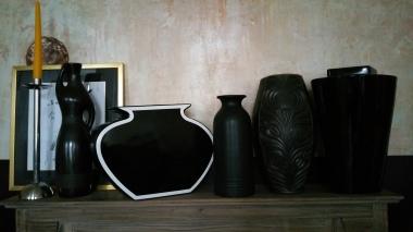 Black vases collection gamanacasa