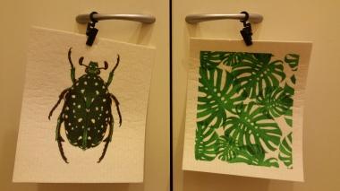 Find surprising ways to display art in the kitchen