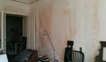Living room doing the walls 2 gamanacasa