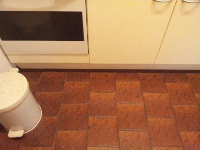 The old kitchen floor