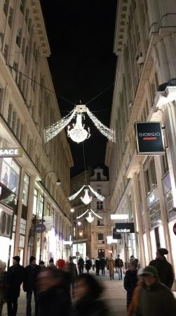 Vienna NewYear side steeet lights