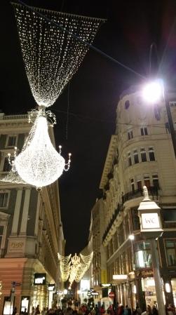 Vienna NewYear steeet lights