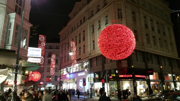 Vienna NewYear Street lights
