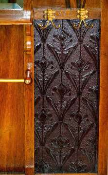 gamanacasa wardrobe with leather applique