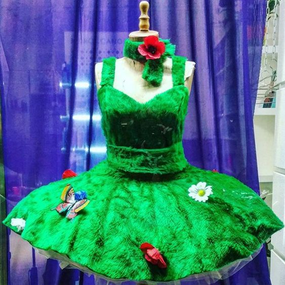 gamanacasa dress green spring vienna