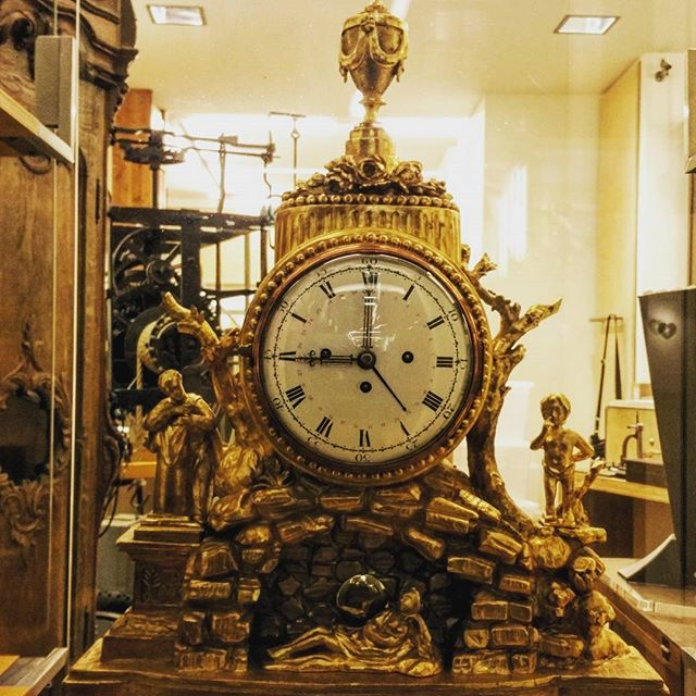 gamanacasa golden barroc clock vienna