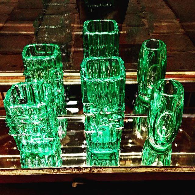 gamanacasa green cristal glass vienna austria