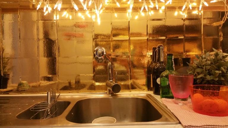 gamanacasa vienna golden tiles kitchen