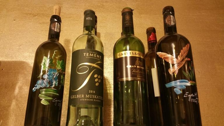 Gamanacasa vienna kitchen wine bottles